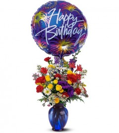 Canada flowers birthday vase arrangement