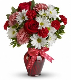 Canada flowers carnations and red roses