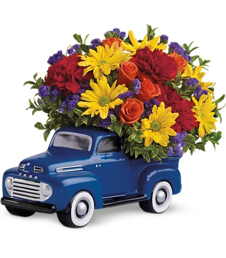 Classic 1948 Ford Canadian flower delivery