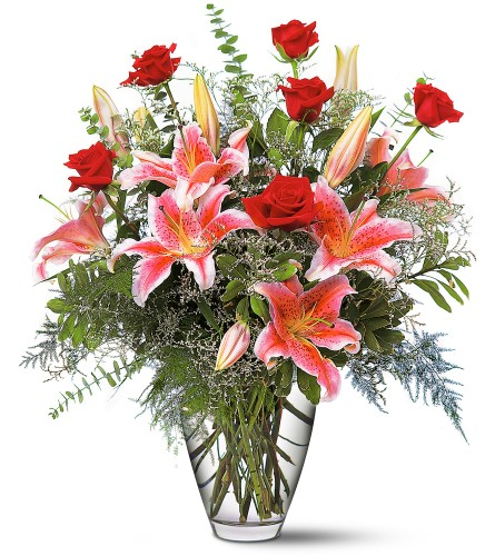 Canada flowers stargazer lilies & roses
